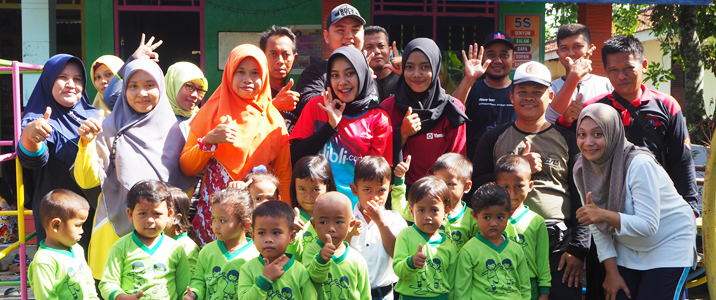 AKPER Gowes to TK & PAUD Tunas Karya
